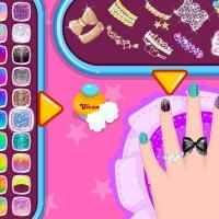 Baby Barbara Glittery Nails