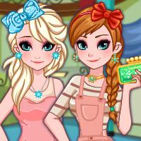 Frozen Sisters Back 2 School Shopping