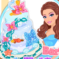 Barbie Beach Wedding Cake