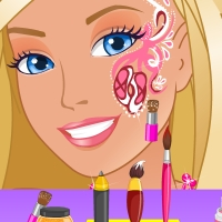 Barbie Glam Face Art