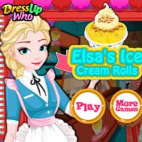 Elsa's Ice Cream Rolls