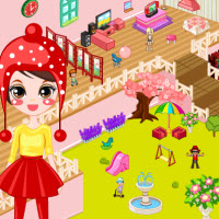 Girly Doll House Decoration